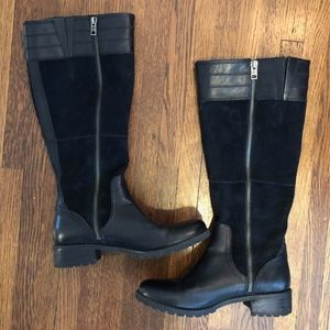 Timberland Black Leather Knee High Boots NWOT